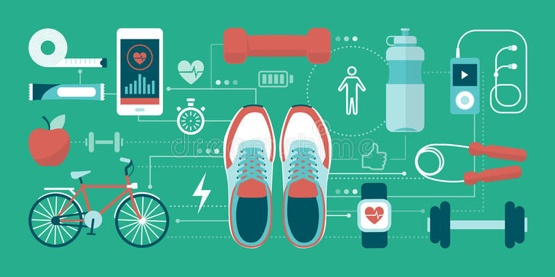 Forme physique et sports illustration stock