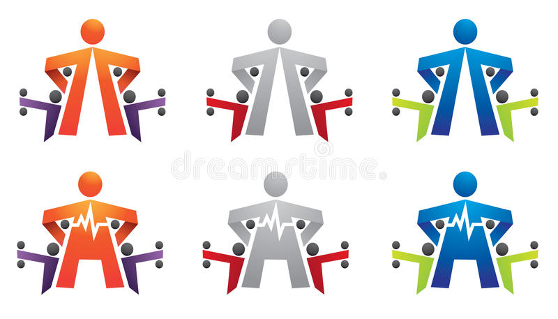 Forme physique, gymnastique, culturisme, cardio- logo illustration libre de droits