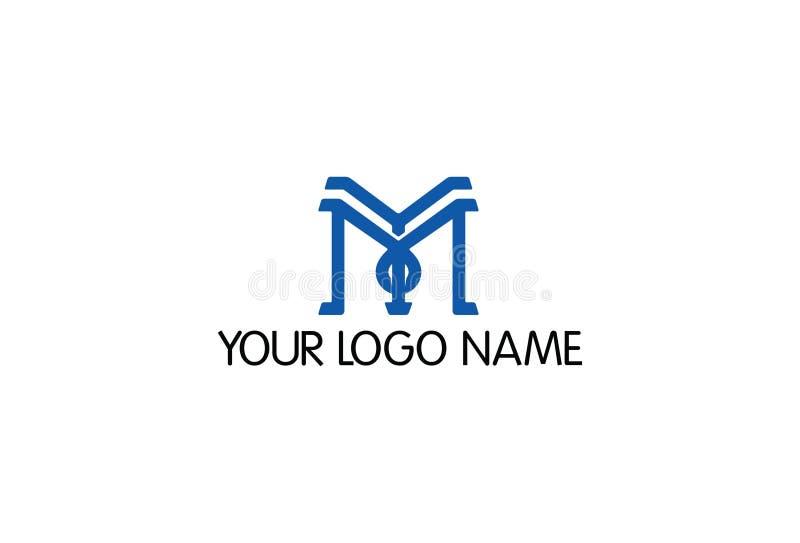 Forme physique M Letter Logo Design illustration de vecteur