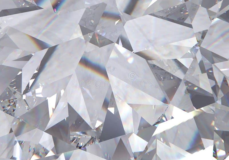 Forme a rombo triangolare con un piccolo diamante sopra di esse Modello di rendering 3D fotografia stock libera da diritti