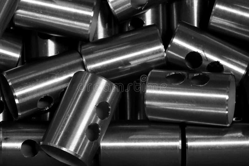 Forme ronde abstraite de tube en métal photos libres de droits