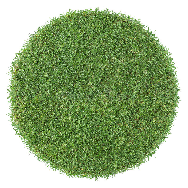 forme ronde d'herbe photographie stock