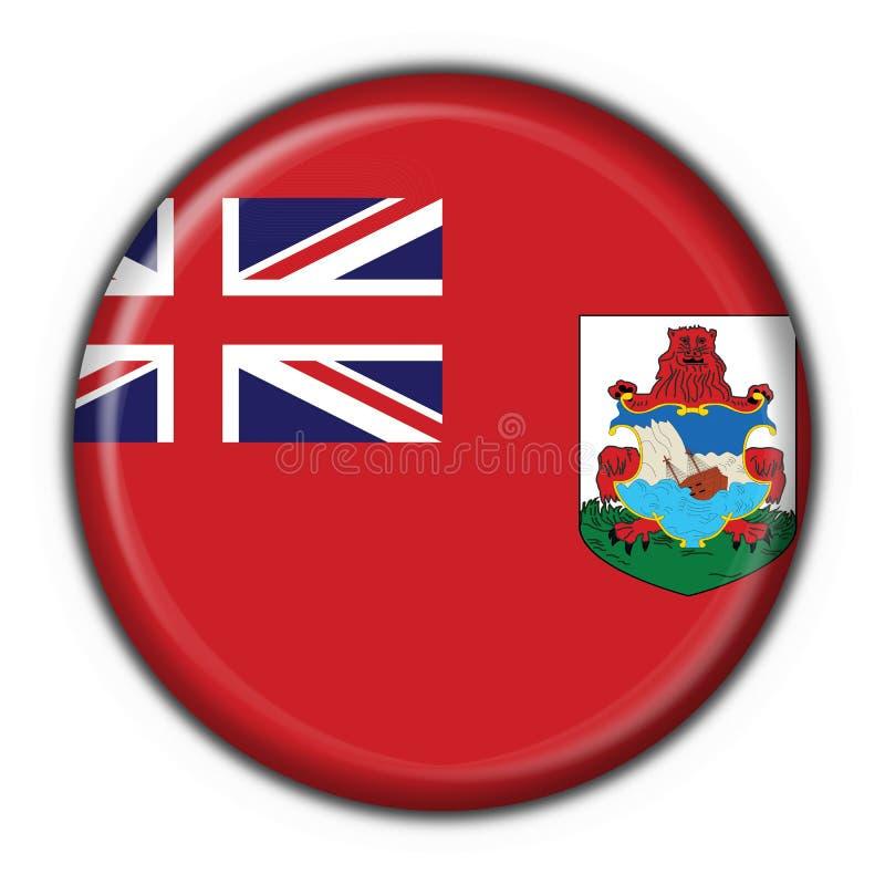 Forme ronde d'indicateur de bouton des Bermudes illustration stock