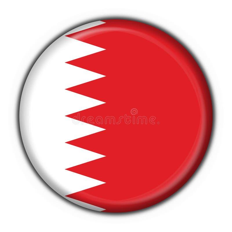 Forme ronde d'indicateur de bouton du Bahrain illustration libre de droits