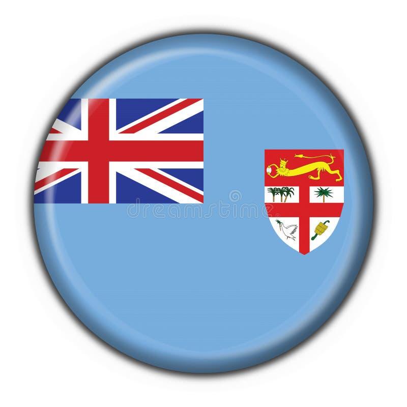 Forme ronde d'indicateur de bouton du Fiji illustration de vecteur