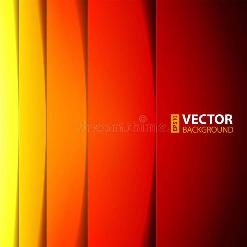 Forme rosse, arancio e gialle astratte di rettangolo royalty illustrazione gratis