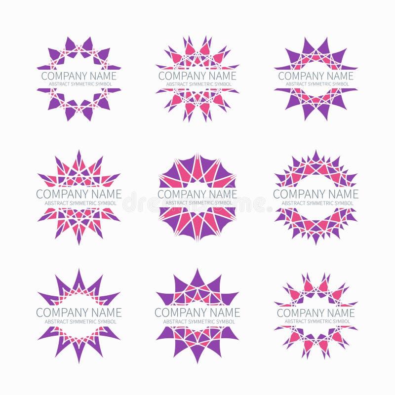 Forme simmetriche astratte geometriche rosa semplici illustrazione di stock