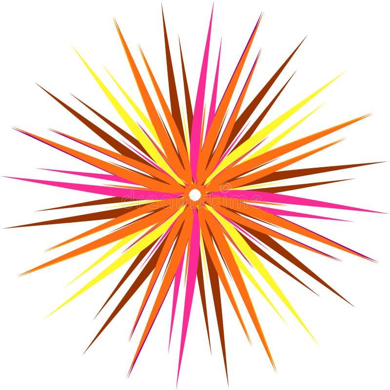 Forme stylisée d'étoile illustration stock