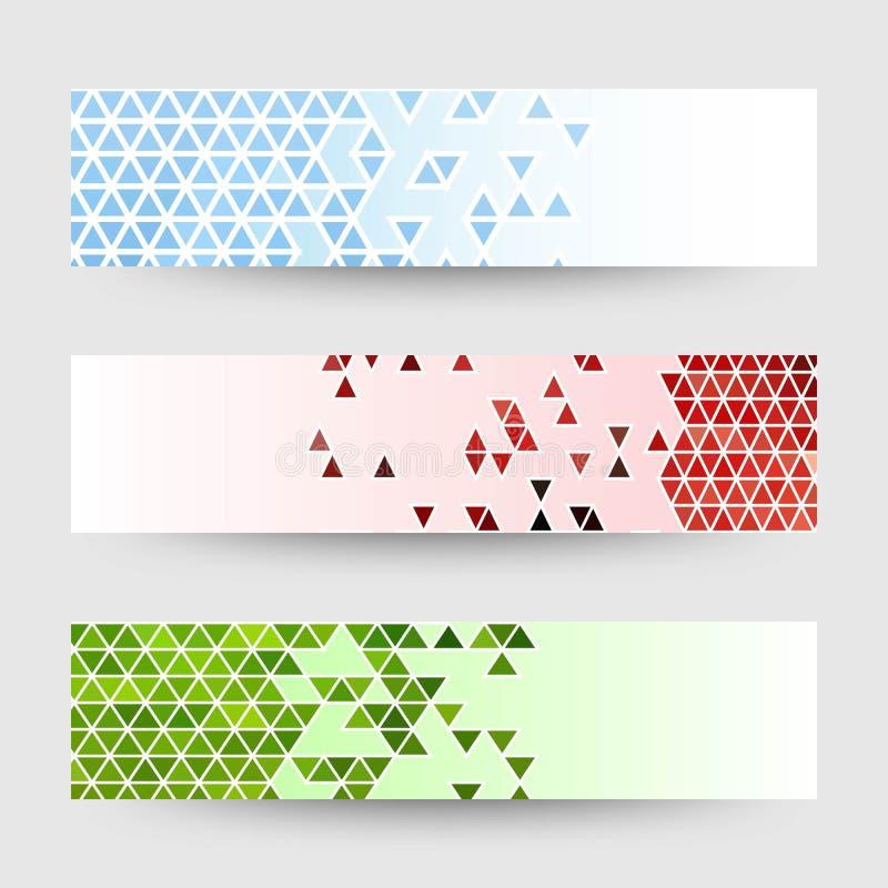 Forme triangolari sui modelli Disposizioni per la pubblicit? - Vektorgrafik illustrazione di stock