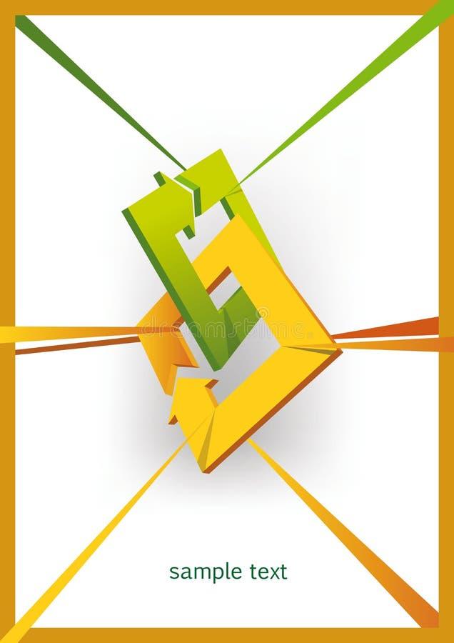 Forme tridimensionnelle de flèches illustration libre de droits