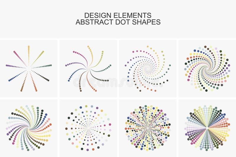 Forme variopinte astratte del punto illustrazione di stock