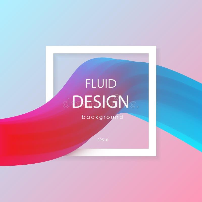 Forme variopinte liquide astratte 3d illustrazione vettoriale