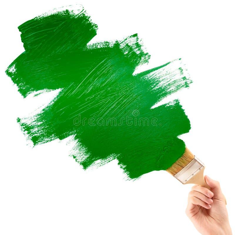 forme verte de peinture photographie stock libre de droits