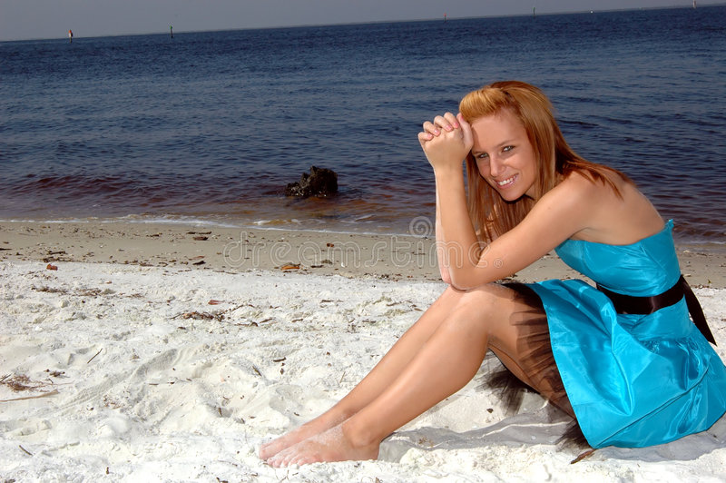 Formeel op het strand stock fotografie