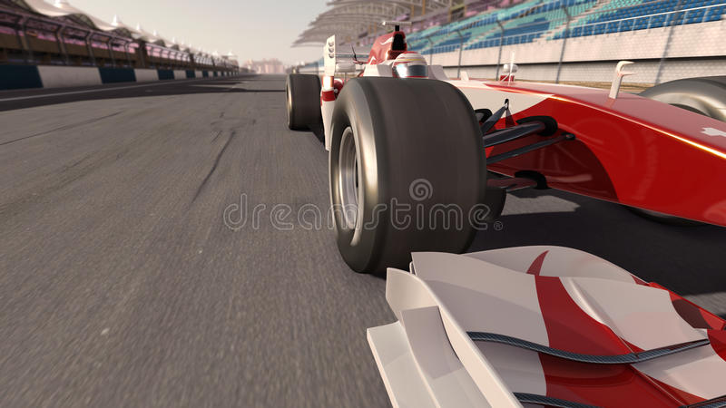 Formel 1-Rennwagen stock abbildung
