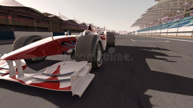 Formel 1-Rennwagen lizenzfreie abbildung