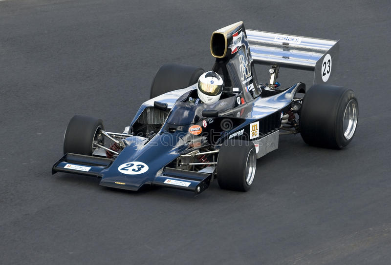 Formel 5000 Lola Rennwagen stockfotografie