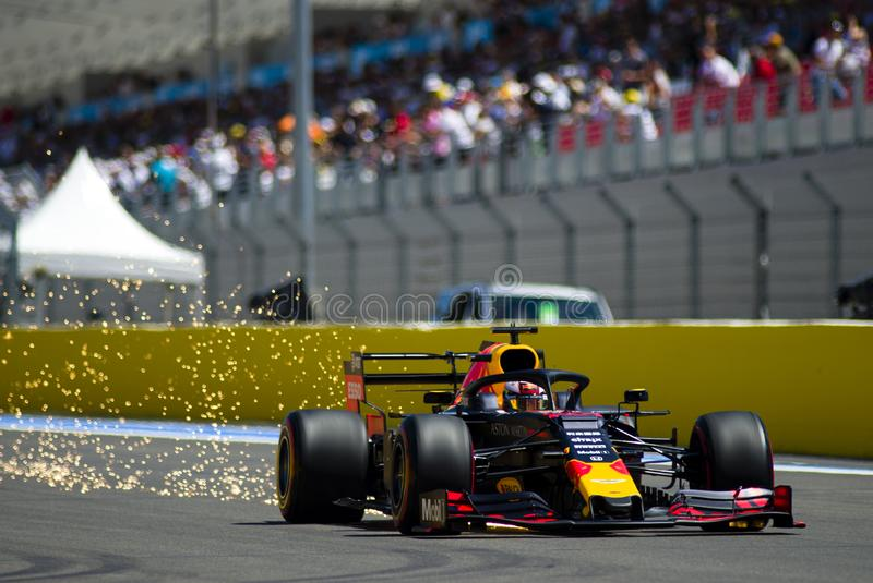 Formel en franska Grand Prix 2019 arkivbilder