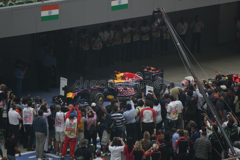Formel en - Red Bull Racing royaltyfri foto