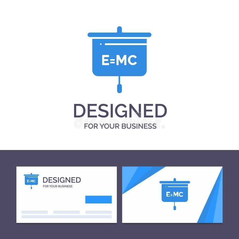 Formel för idérik mall för affärskort och logo, utbildning, presentation, skolavektorillustration stock illustrationer