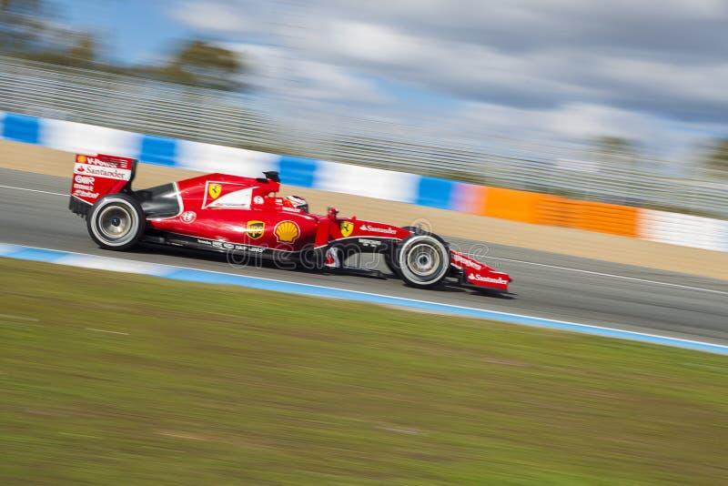 Formel 1, 2015: Kimi Raikkonen, Ferrari stockfotografie