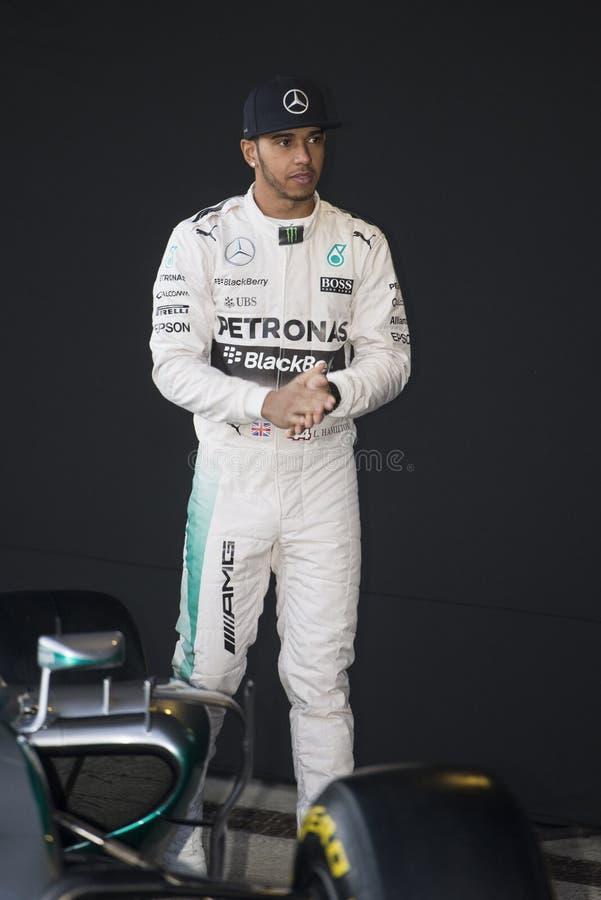 Formel 1, 2015: Lewis Hamilton stockfotografie