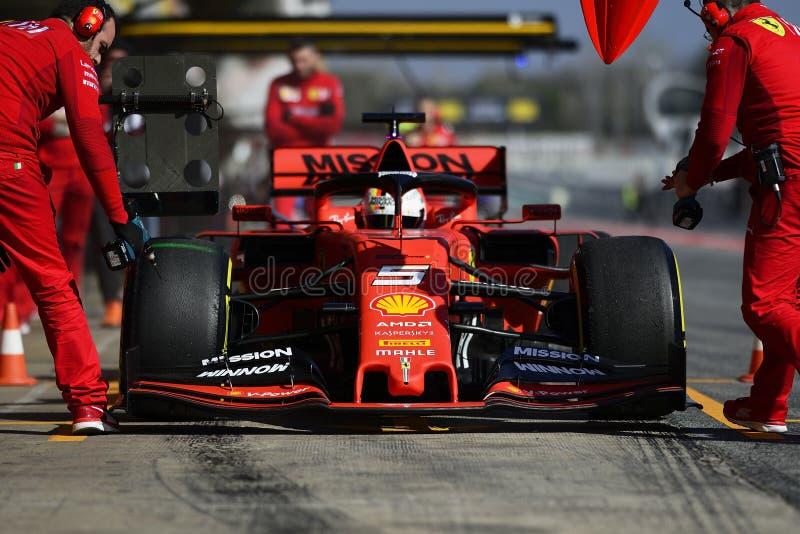 Formel 1-Test stockbilder