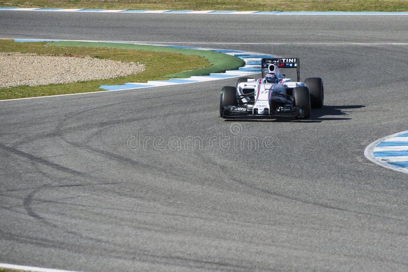 Formel 1 2015: Valtteri Bottas stockbild