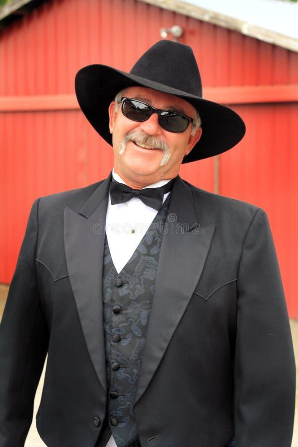 Formele Cowboy met Zonnebril stock afbeelding