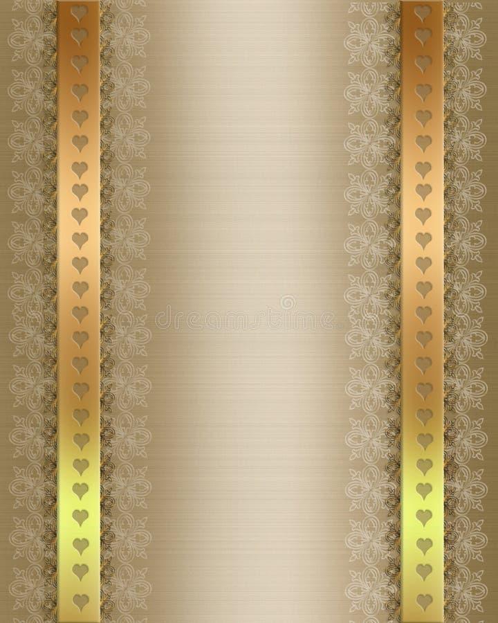 formell guldinbjudanmall vektor illustrationer
