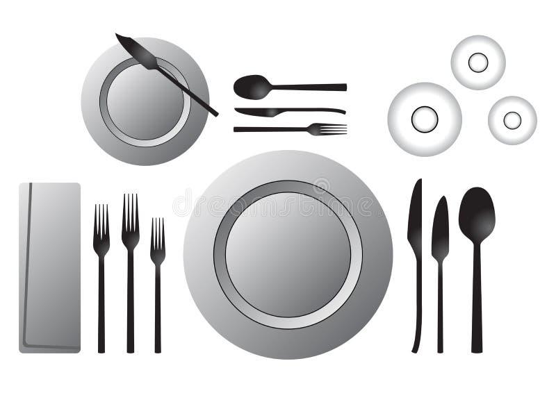 formell tabell stock illustrationer