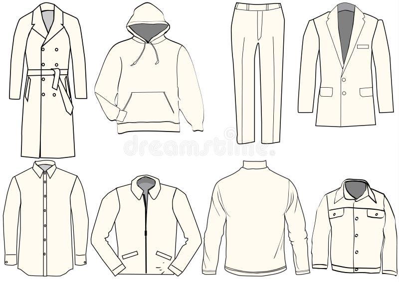 formell wear vektor illustrationer