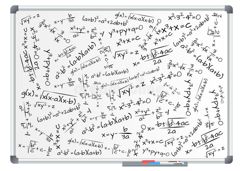 Formelmatematik stock illustrationer