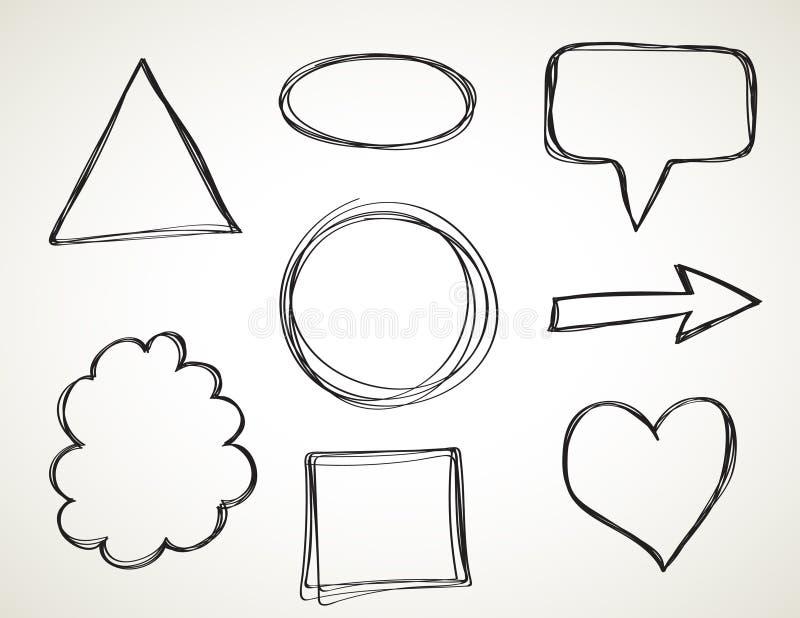 Formen - Handzeichen lizenzfreie abbildung