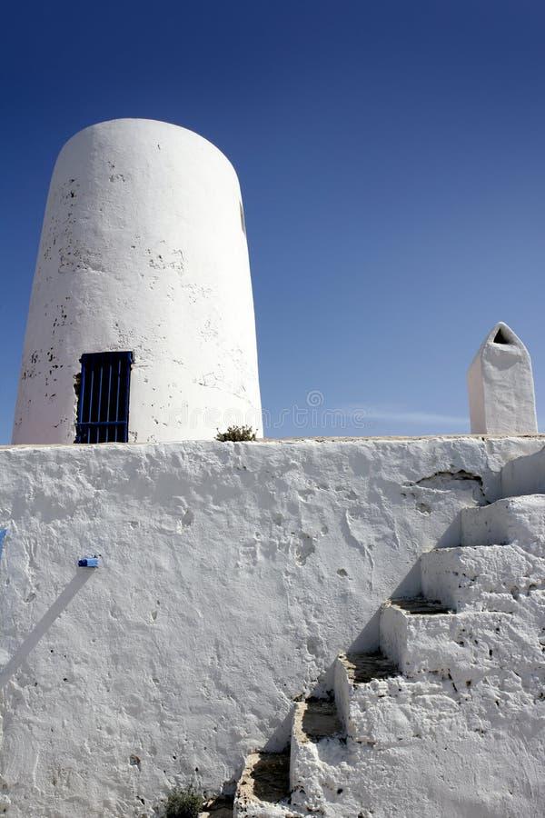 formentera在白色附近安置ibiza海岛 免版税库存图片