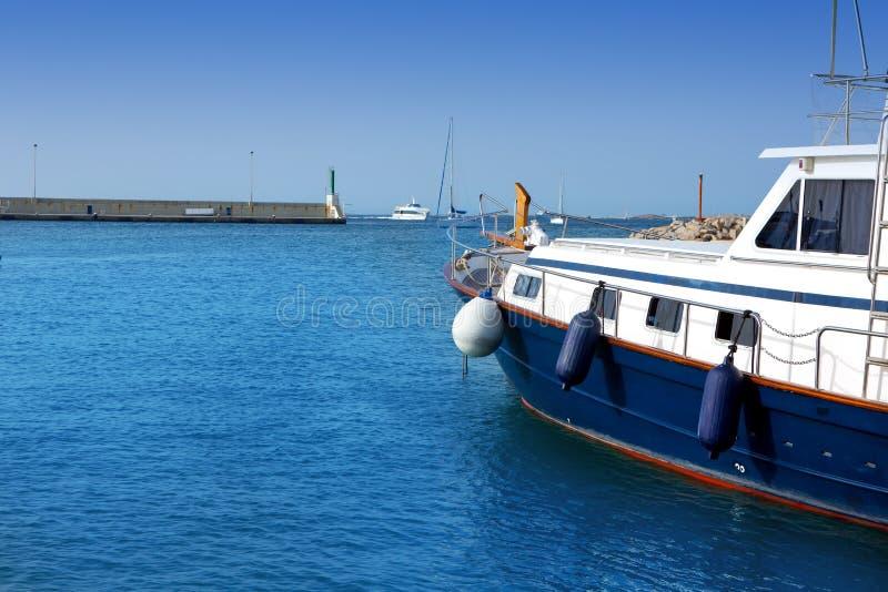 Formentera海岛在拜雷阿尔斯的海滨广场La Savina 免版税库存图片