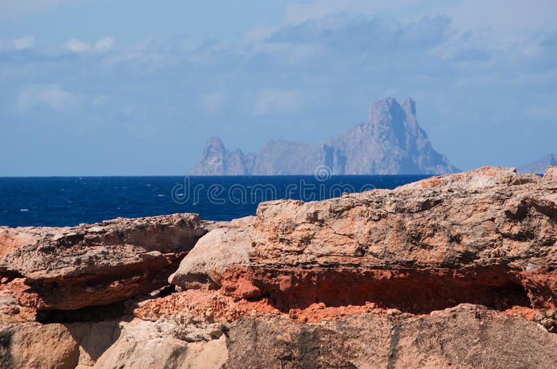 Formentera, Balearic Islands, Spain, Europe, rock, rocks, cliff, beach, nature, landscape, summer stock images