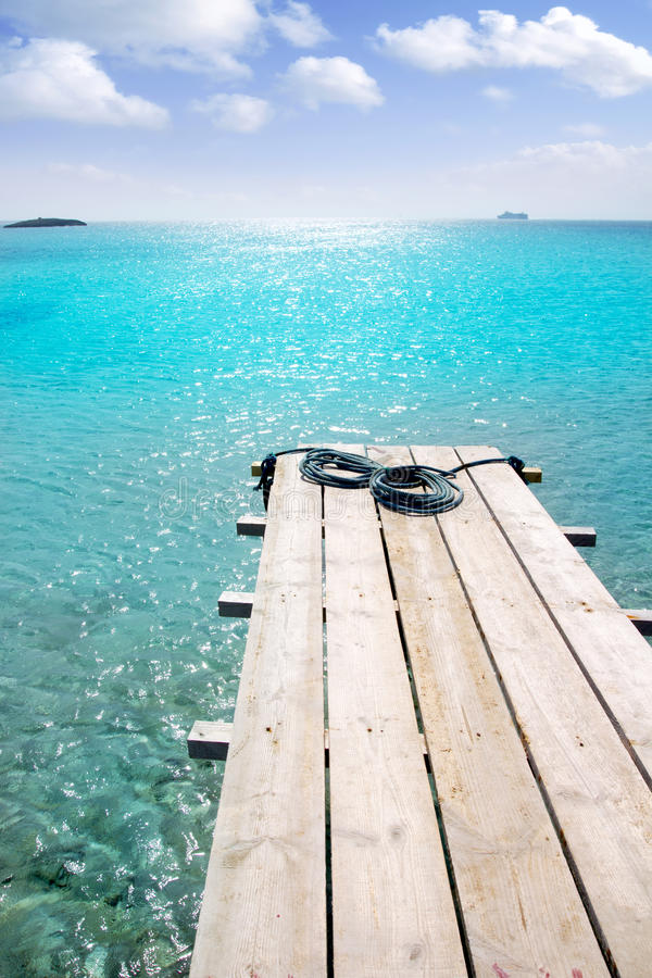 Download Formentera Beach Wood Pier Turquoise Balearic Sea Stock Photo - Image: 19665568