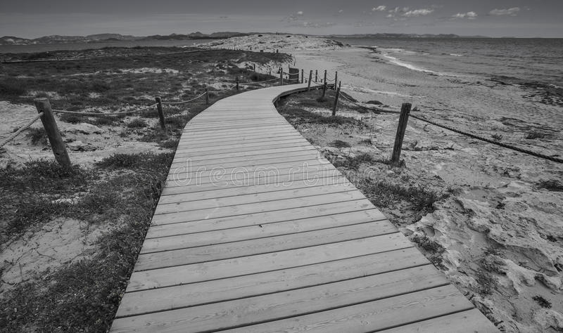 Formentera black and white stock photography