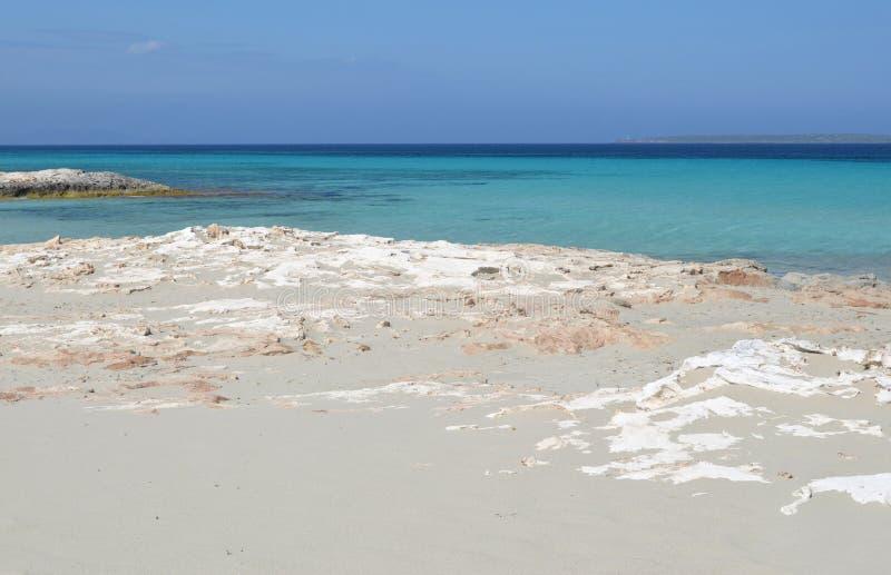 Formentera cerca de Eivissa fotos de archivo