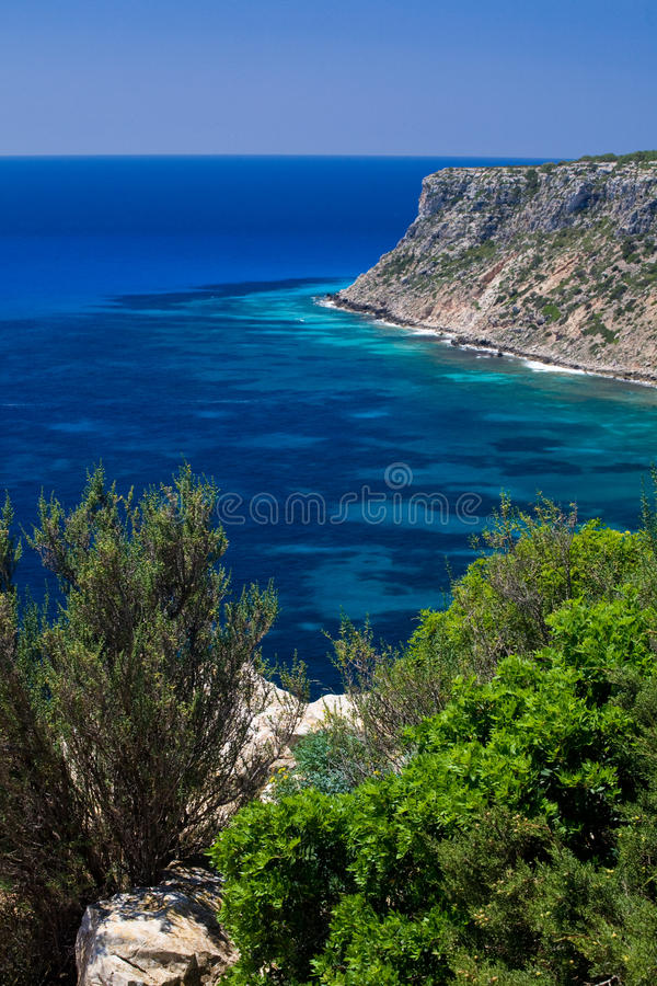 Download Formentera cliffs stock photo. Image of deep, rocky, warm - 9978930