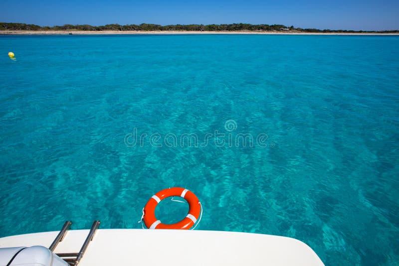 Formentera Illetes Illetas con la boya redonda imagen de archivo libre de regalías