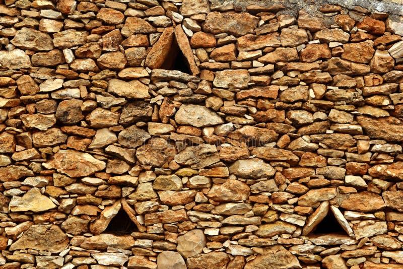 formentera kamieniarstwa kamienia trójboka ściany okno fotografia stock