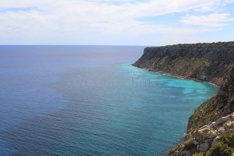 formentera la地中海mota海运 免版税图库摄影