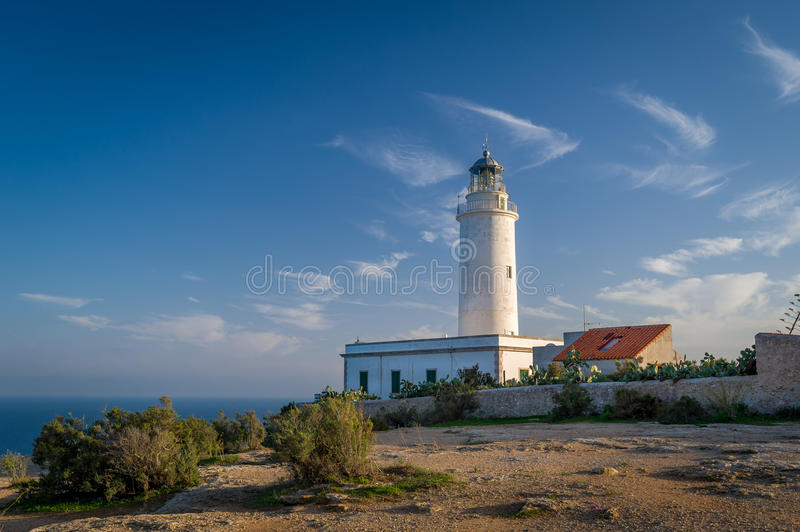 Formentera lighthouse stock photography