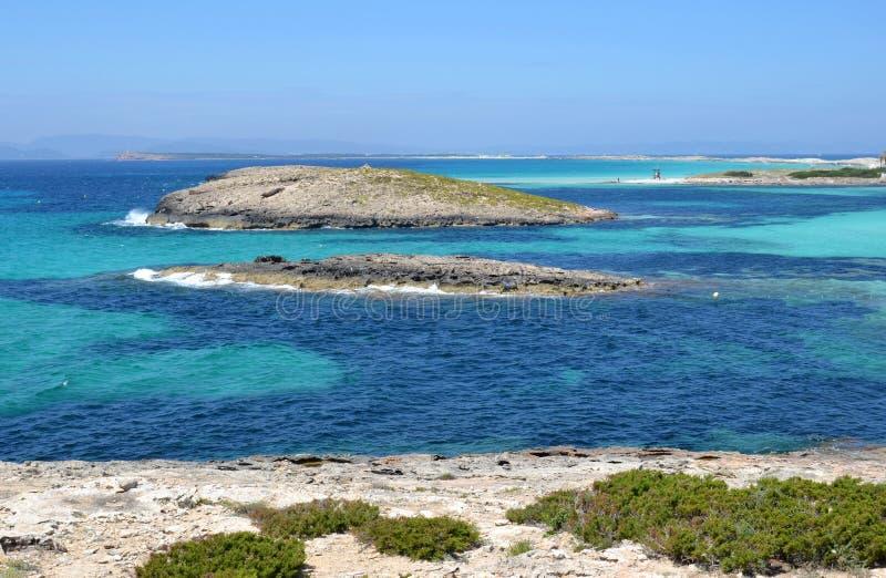 Formentera nahe Eivissa lizenzfreie stockfotos