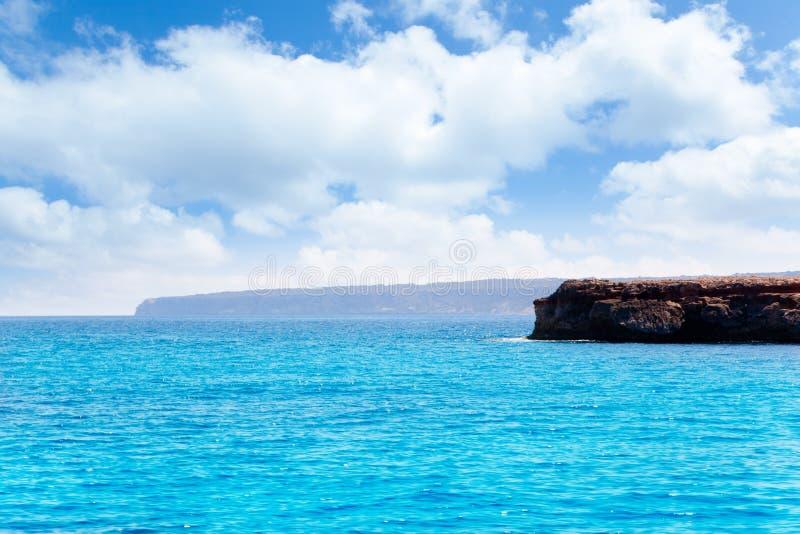 Formentera Punta Prima in de Balearen stock afbeelding