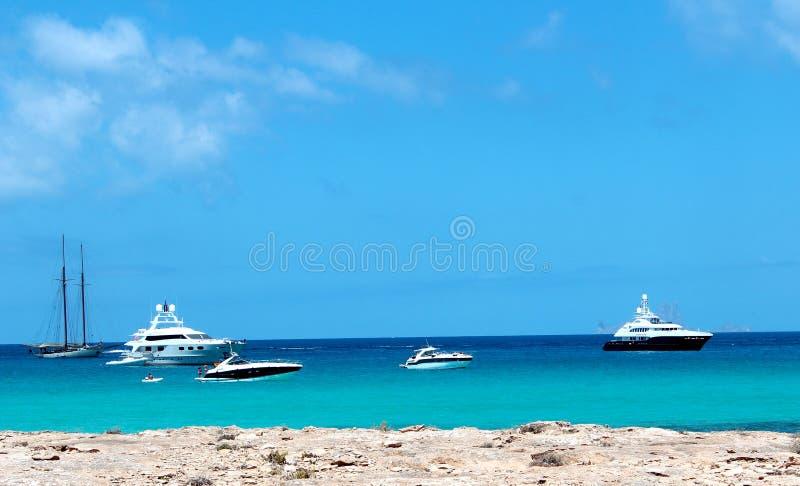 Formentera-Strand stockbilder