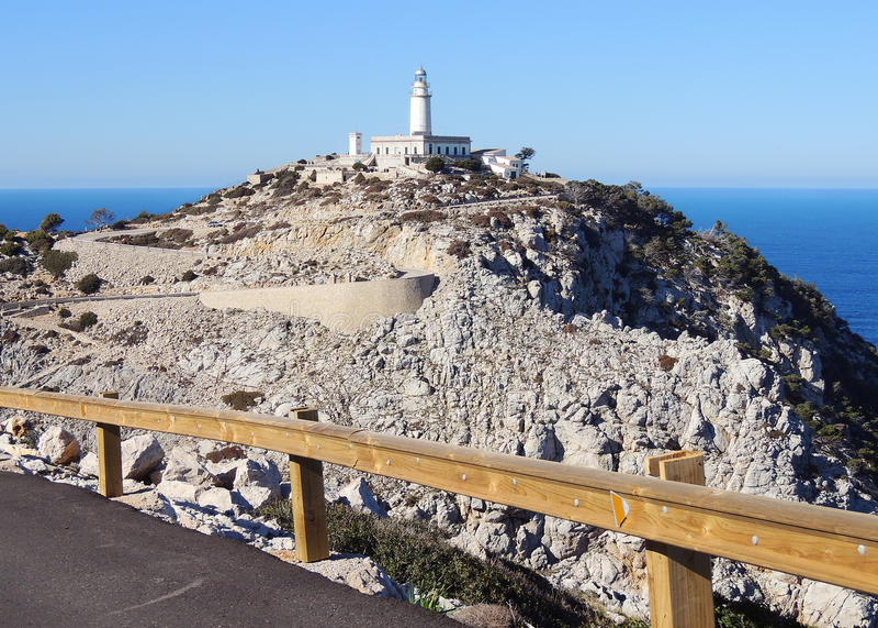 Formentor灯塔,马霍卡岛 图库摄影
