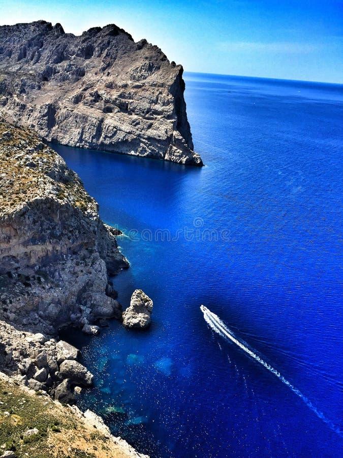 Formentor алы взгляда стоковая фотография rf